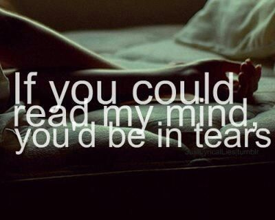 if you could read my mind youd cry