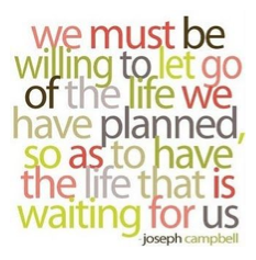 let go of the life planned