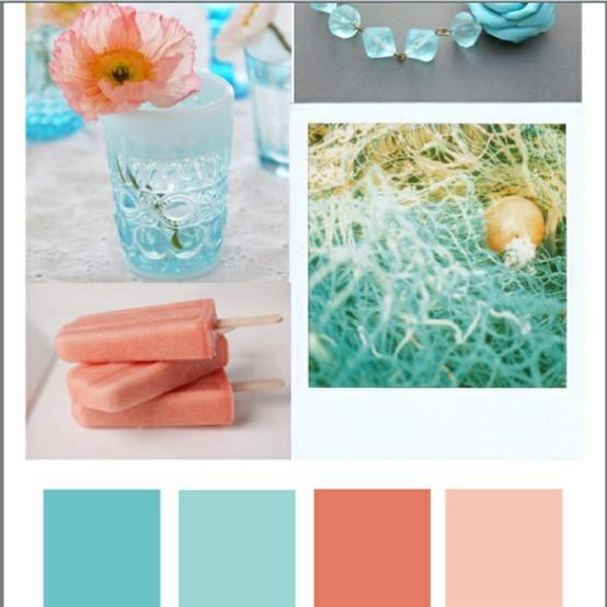 Coral and Aqua
